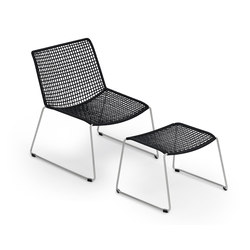 Slope Lounge Chair with Stool | Fauteuils de jardin | Weishäupl