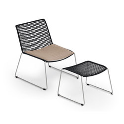 Slope Lounge Chair with Stool | Fauteuils | Weishäupl
