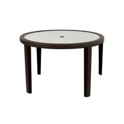 Seneca Dining Table With Tempered Glass Top | Tables à manger de jardin | Kannoa