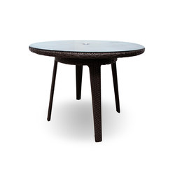 "Senna 40"" Round Dining Table With Tempered Glass Top 