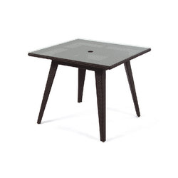 Senna Square Dining Table With Tempered Glass Top | Dining tables | Kannoa