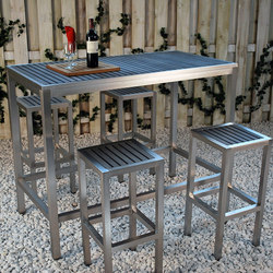 Sicilia Rectangular Bar Table | Garten-Bartische | Kannoa
