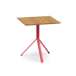 Trio Bistro Table, Tabletop Teak | Cafeteria tables | Weishäupl