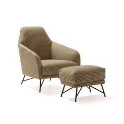 Wilma | Armchair and Ottoman | Armchairs | My home collection
