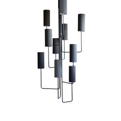 Grande Vortex Chandelier | Suspended lights | Martin Huxford Studio
