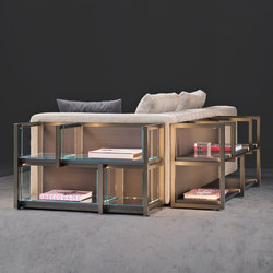 Continuum sofa, bookcase | Office shelving systems | Flou