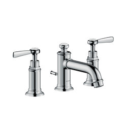 AXOR Montreux 3-hole basin mixer 30 with pop-up waste set and lever handles | Wash-basin taps | AXOR