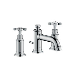 AXOR Montreux 3-hole basin mixer 30 with pop-up waste set | Wash basin taps | AXOR