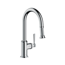 AXOR Montreux Single lever kitchen mixer with pull-out spray | Kitchen taps | AXOR