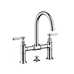 AXOR Montreux 2-handle basin mixer 220 with pop-up waste set and lever handles | Wash basin taps | AXOR