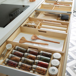 LINE-E Horizontal projection | Kitchen organization | Santos