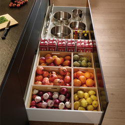 LINE Silk Three levels of drawers | Kitchen organization | Santos