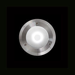 Chiara Mid-Power LED / Ghiera in Acciaio Inox - Vetro Sabbiato - Direct 230V | Lampade outdoor parete | Ares