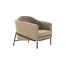 Fil Noir Armchair | Lounge chairs | Minotti