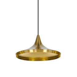Beat Wide Pendant Brass | Suspensions | Tom Dixon