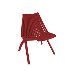 Lotos Chair | red | Sillas de jardín | POLITURA