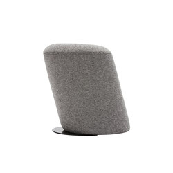 Slant Stool Black Base | Pouf | Tom Dixon