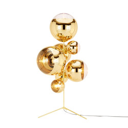 Mirror Ball Gold Stand Chandelier | Lámparas de pie | Tom Dixon