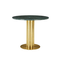Tube Table Green Marble Top 900mm | Restaurant tables | Tom Dixon