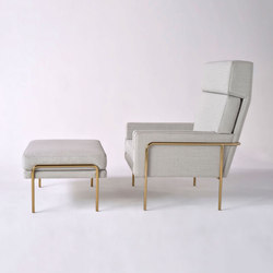 Trolley Lounge Chair + Ottoman | Fauteuils d'attente | Phase Design