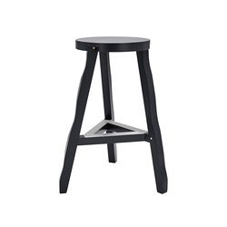Offcut Stool 650mm Black | Tabourets de bar | Tom Dixon