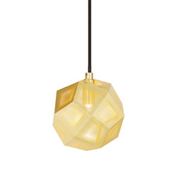 Etch Mini Pendant Brass | General lighting | Tom Dixon