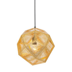 Etch Pendant Brass | Suspended lights | Tom Dixon