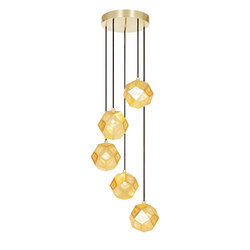 Etch Mini Chandelier Brass | Iluminación general | Tom Dixon