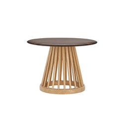 Fan Table Natural Base Fumed Oak Top 600mm | Side tables | Tom Dixon