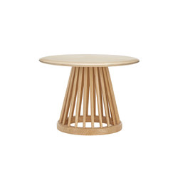 Fan Table Natural Base Natural Birch Top 600mm | Side tables | Tom Dixon