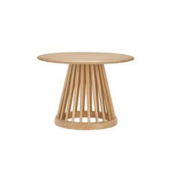 Fan Table Natural Base Natural Oak Top 600mm | Side tables | Tom Dixon