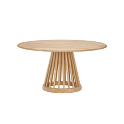 Fan Table Natural Base Natural Oak Top 900mm | Lounge tables | Tom Dixon