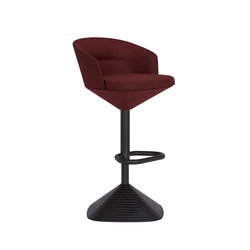 Pivot Bar Stool Divina Melange 2 red | Bar stools | Tom Dixon