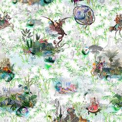 Au Thèâtre Ce Soir Fabrics | Reveries Vert Buis | Curtain fabrics | Designers Guild
