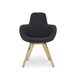 Scoop Chair High Back Brass Leg Tonus 4 | Sedie visitatori | Tom Dixon