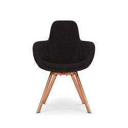 Scoop Chair High Back Copper Leg Tonus 4 | Visitors chairs / Side chairs | Tom Dixon