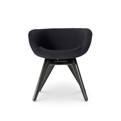 Scoop Chair Low Back Black Leg Tonus 4 | Sedie visitatori | Tom Dixon