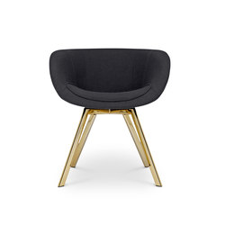 Scoop Chair Low Back Brass Leg Tonus 4 | Sedie visitatori | Tom Dixon