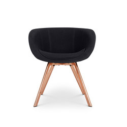 Scoop Chair Low Back Copper Leg Tonus 4 | Visitors chairs / Side chairs | Tom Dixon