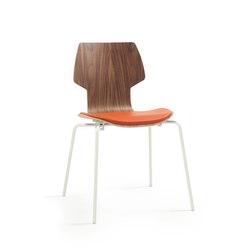 Gràcia | Stuhl Walnuss weiß | Stühle | Mobles 114