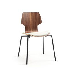 Gràcia | Stuhl Walnuss schwarz | Stühle | Mobles 114