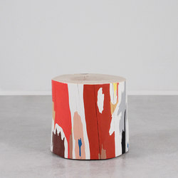 Lyrical Modern Hand Painted Table | Tavolini alti | Pfeifer Studio