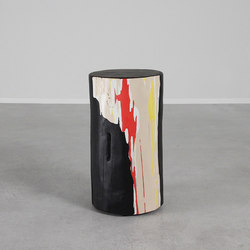 Abstractionist Hand Painted Log Table | Tables d'appoint | Pfeifer Studio