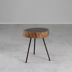Tripod Black Walnut Table | Tables d'appoint | Pfeifer Studio