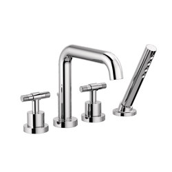 Roman Tub Faucet with Handshower and T-Lever Handles | Bath taps | Brizo