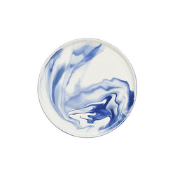 Pigments & Porcelain Plate M | cobalt | Services de table | Vij5