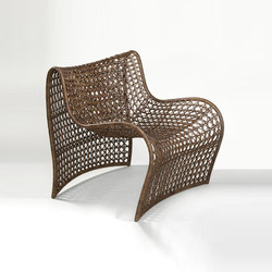 Lola Chair, Brown | Gartensessel | Oggetti