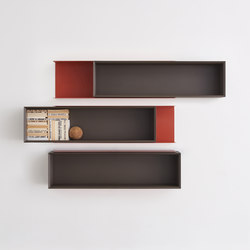 Double Me bookshelf | Wall shelves | Desalto