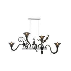 Fenice Chandelier, Smoke, 13 | Ceiling suspended chandeliers | Oggetti