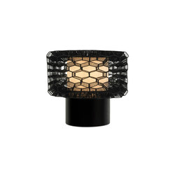 Honeycomb Table Lamp, Black, Large | General lighting | Oggetti
